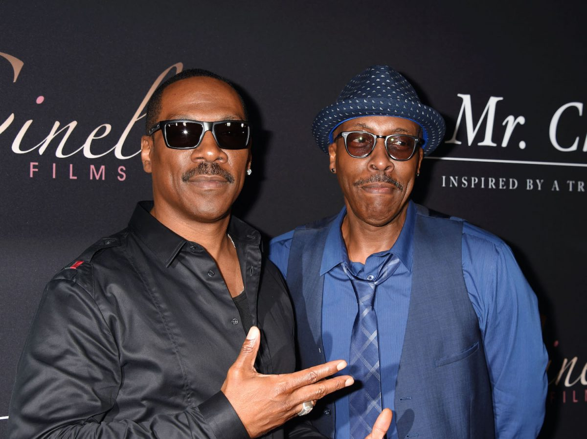 Eddie Murphy and Arsenio Hall arrive at the premiere of Cinelou Releasing's 'Mr. Church' in 2016