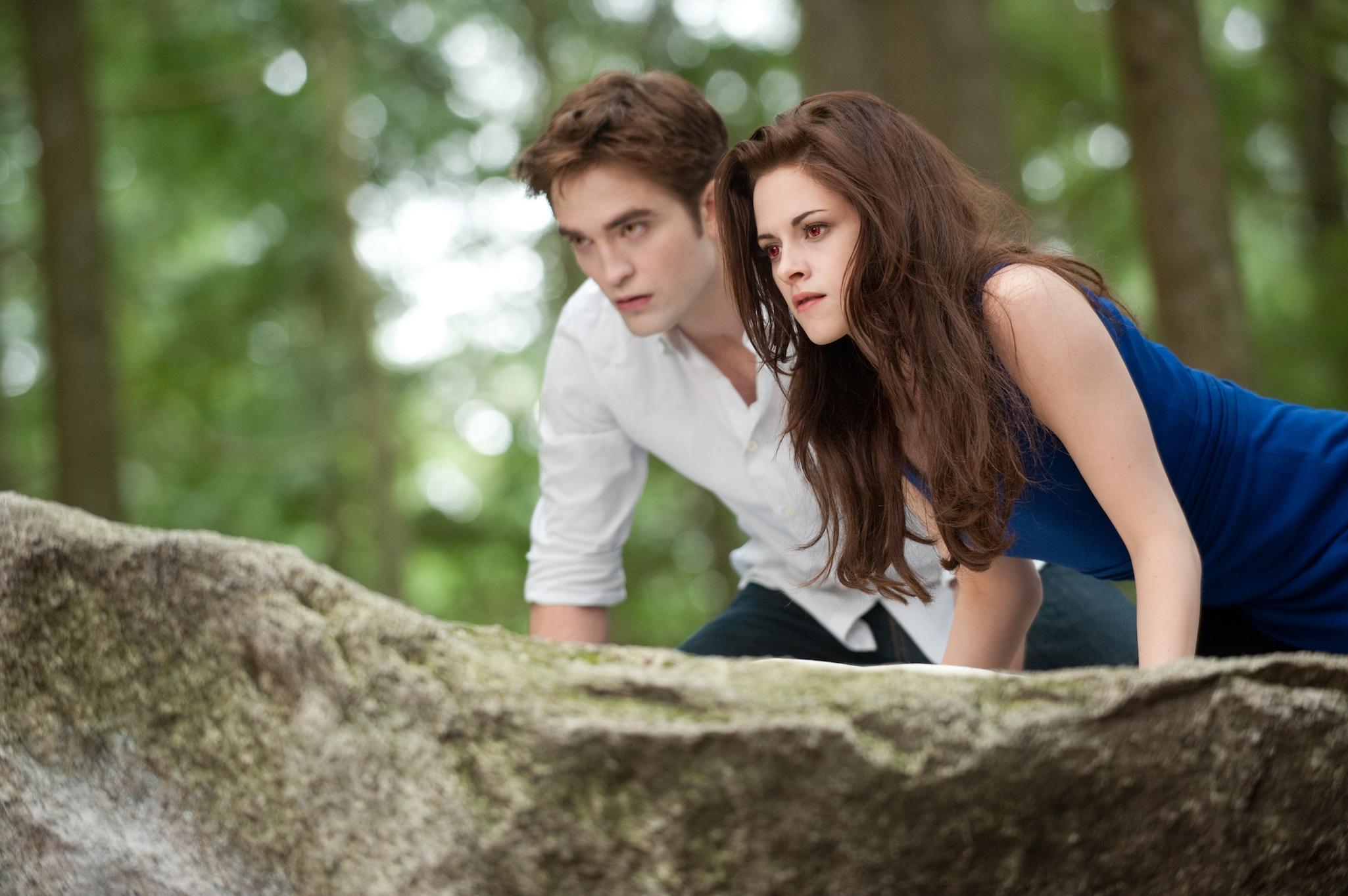 Edward Cullen (ROBERT PATTINSON) and Bella Swan (KRISTEN STEWART) in 'THE TWILIGHT SAGA: BREAKING DAWN-PART 2'