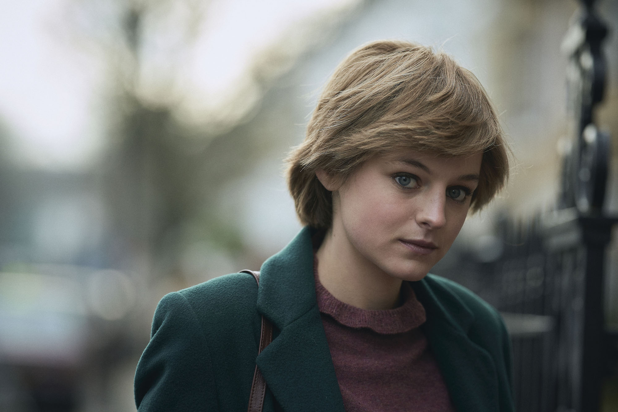 The Crown S4, Diana Princess of Wales (EMMA CORRIN), filmed in Earl's Court
