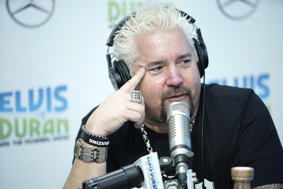 Guy Fieri with headphones on