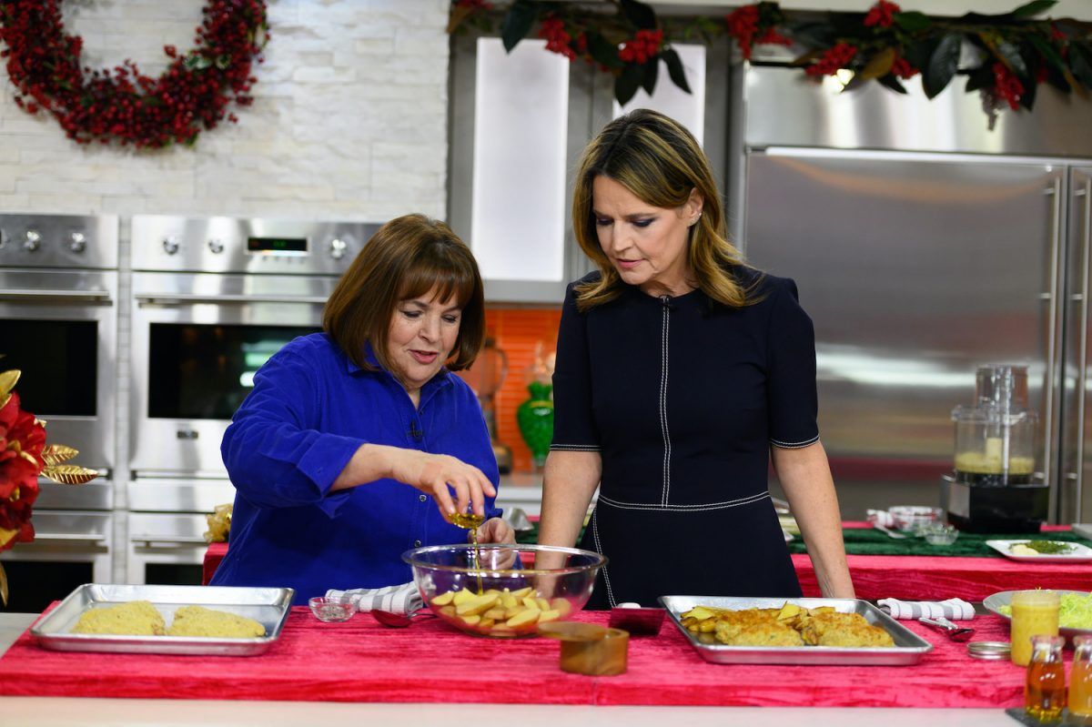 Ina Garten and Savannah Guthrie on the Today show
