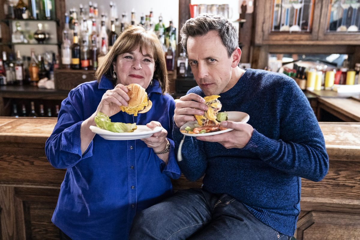 Ina Garten and Seth Meyers on Late Night With Seth Meyers