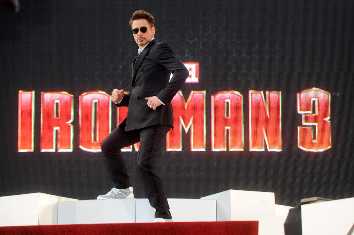 Robert Downey Jr attends a special screening of 'Iron Man 3' on April 18, 2013 in London, England.
