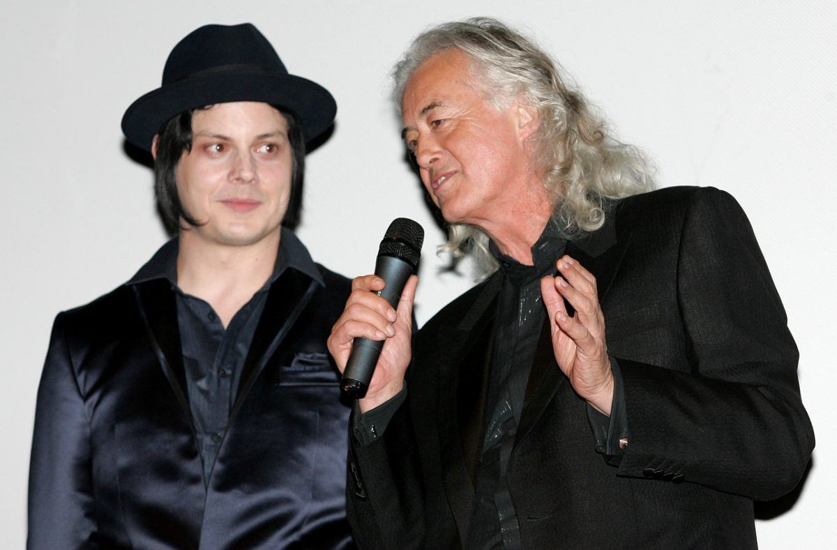 Jack White with Jimmy Page
