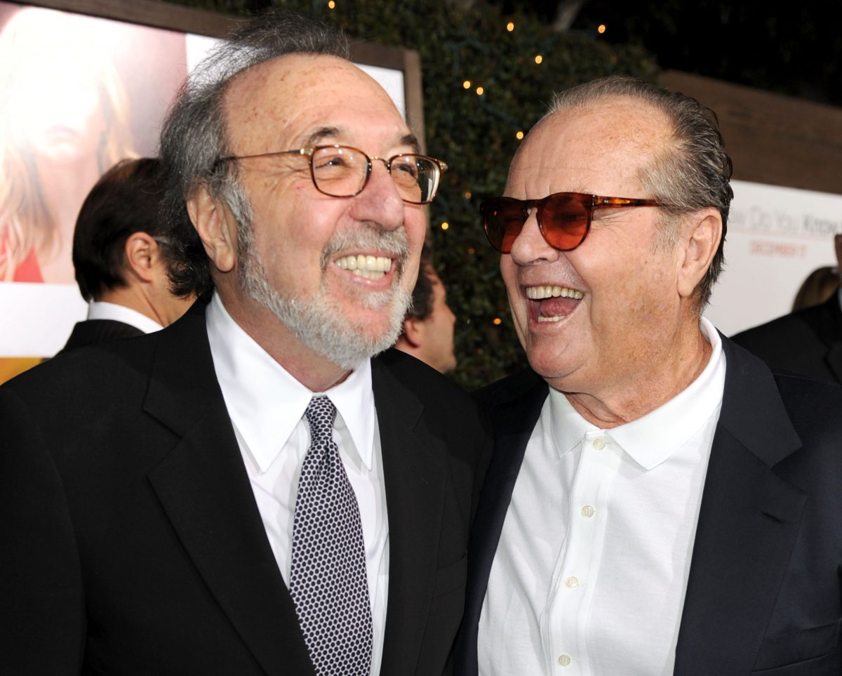 James L. Brooks (L) and Jack Nicholson at the premiere of Columbia Pictures' 'How Do You Know' on December 13, 2010 in Los Angeles, California.