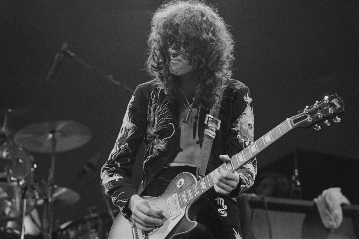 Jimmy Page on stage