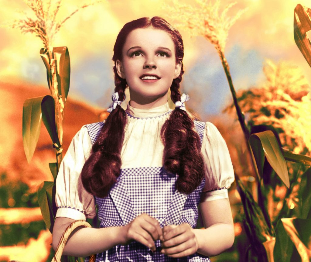 Judy Garland as Dorothy Gale in 'The Wizard of Oz', 1939.
