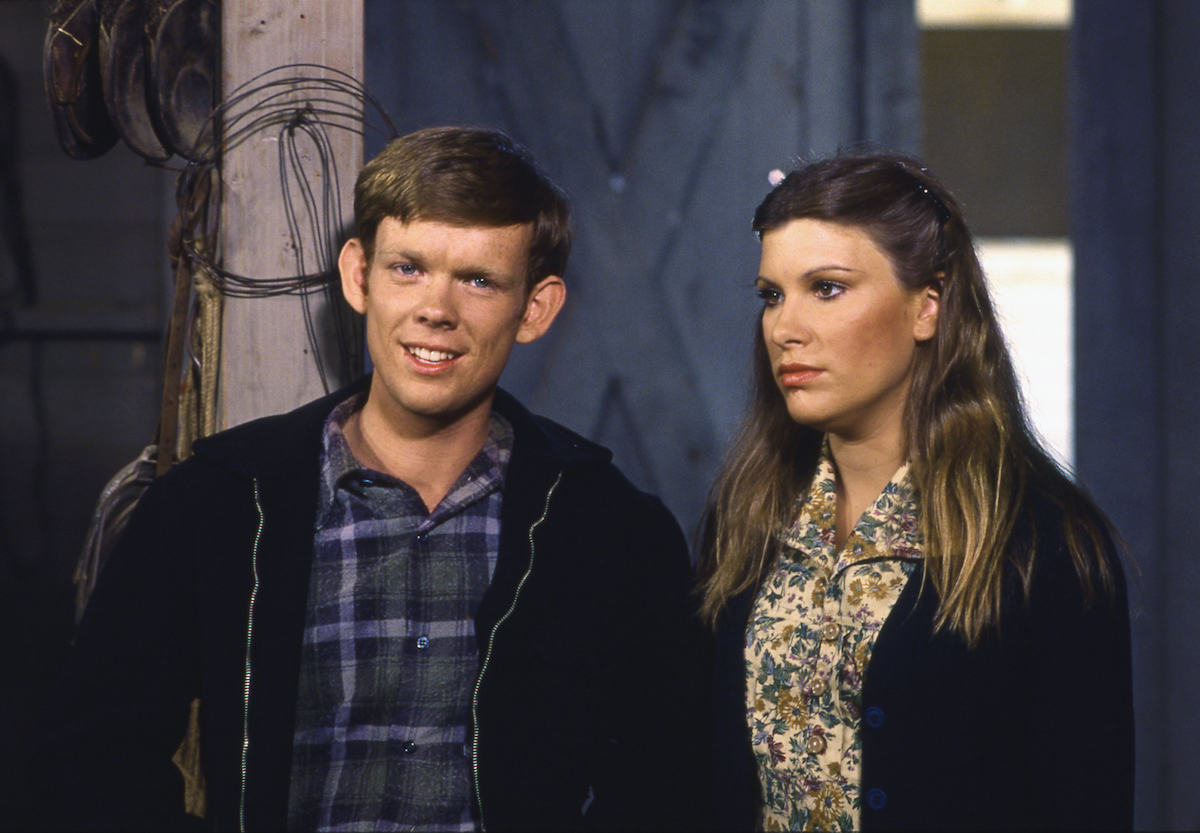 Jon Walmsley (as Jason Walton) and Judy Norton Taylor (as Mary Ellen Walton)
