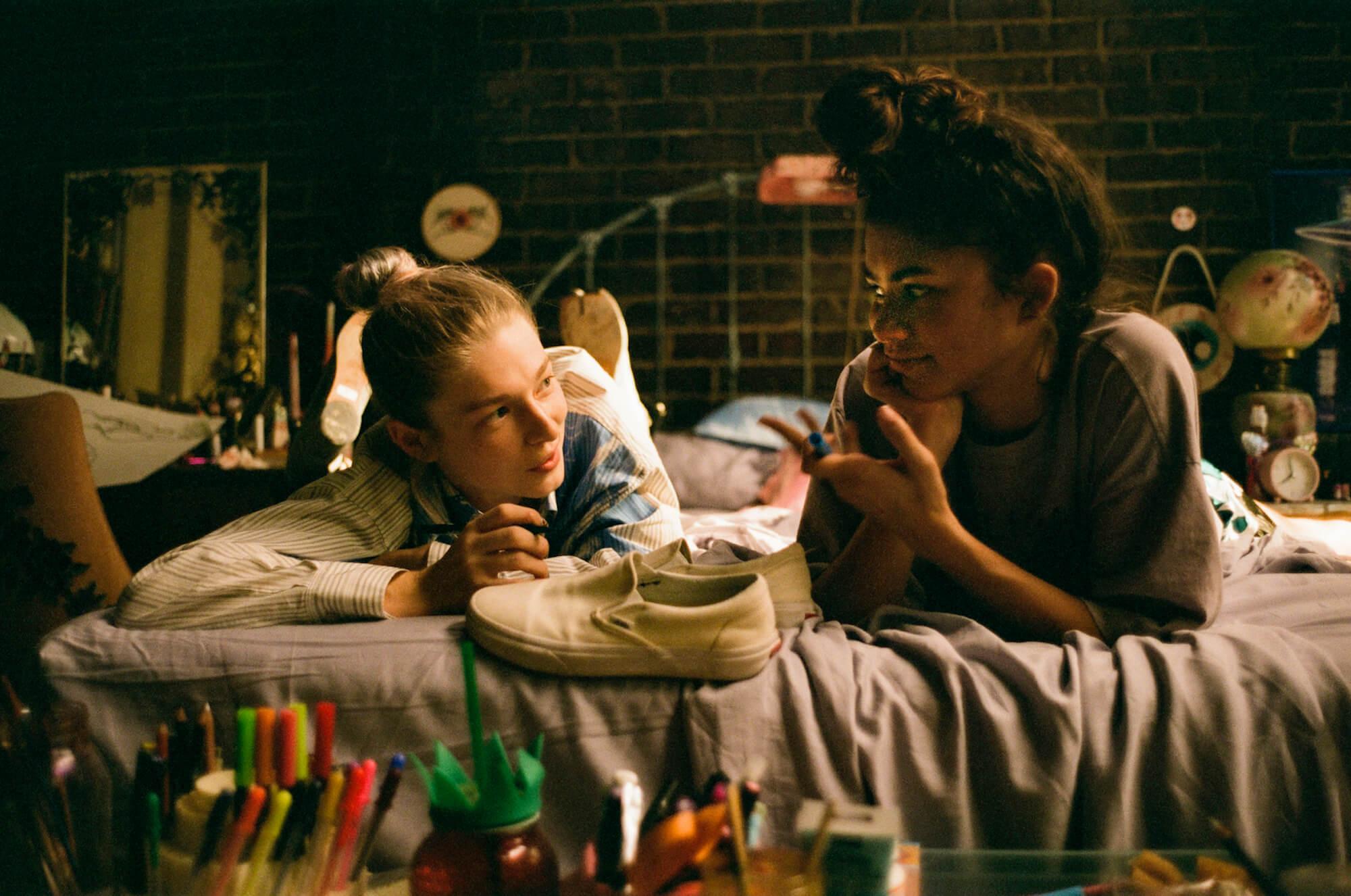 "Jules (Hunter Schafer) and Rue (Zendaya) in 'Euphoria' ""Part One: Rue"""