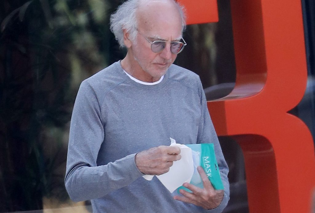 Larry David with mask