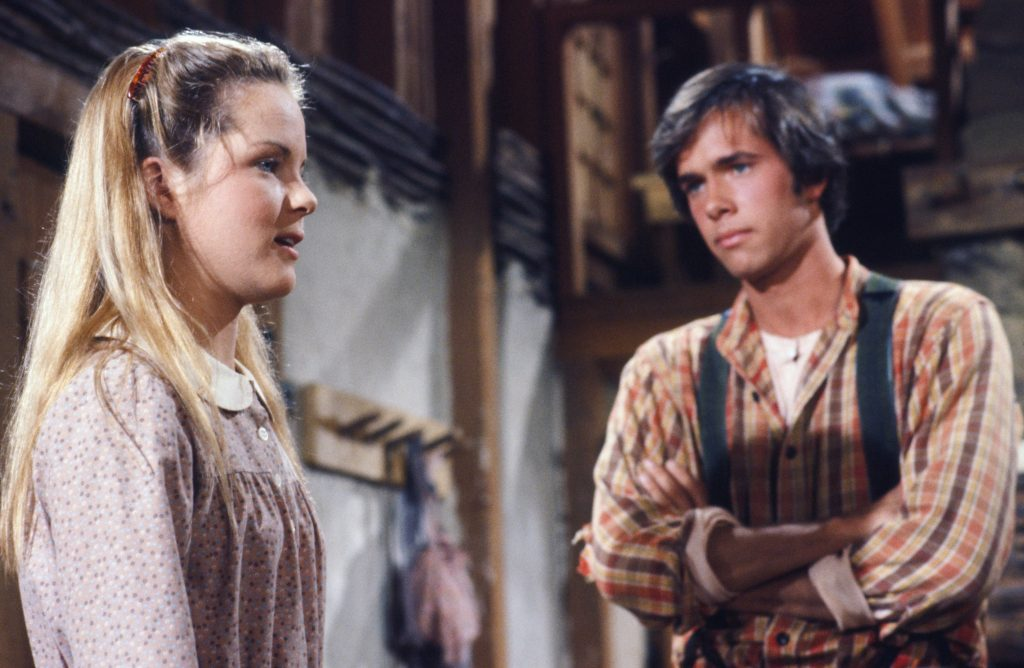 Melisssa Sue Anderson as Mary Ingalls Kendall, Robert Kenneally as Seth Barton on 'Little House on the Prairie'
