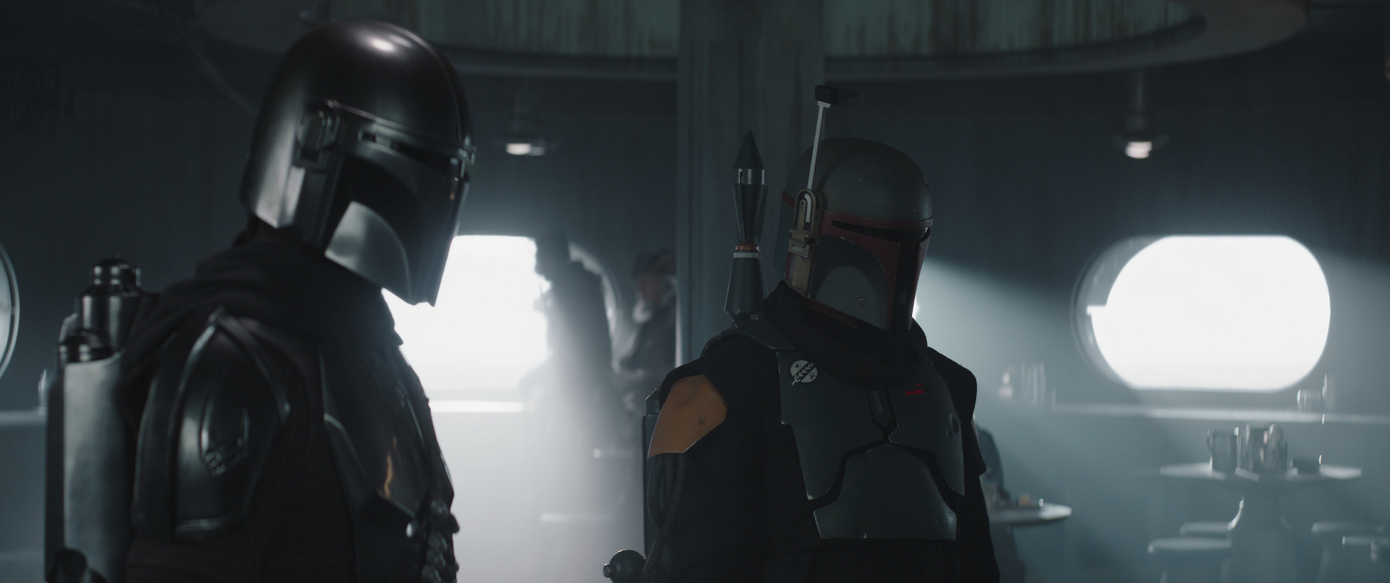 Din Djarin and Boba Fett in 'The Mandalorian' Season 2 finale