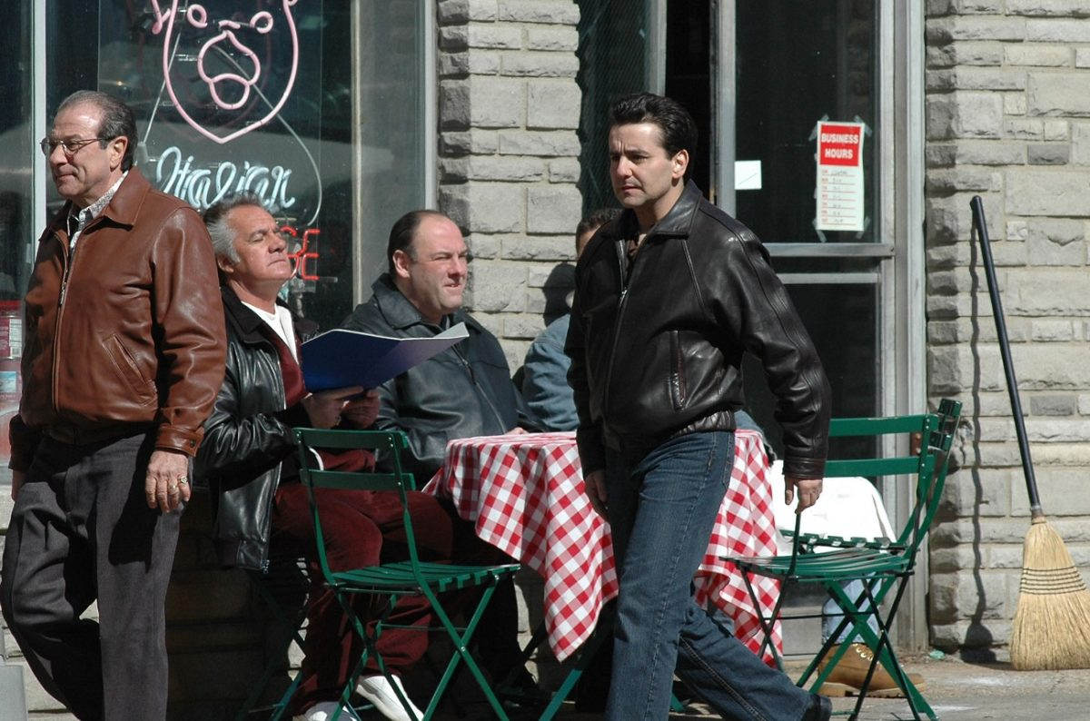 Max Casella on 'Sopranos' set