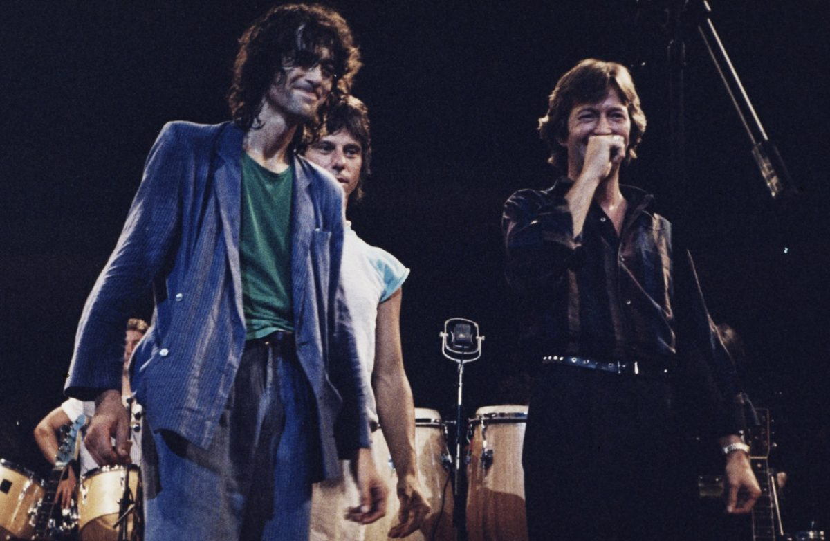 Jimmy Page with Jeff Beck and Eric Clapton