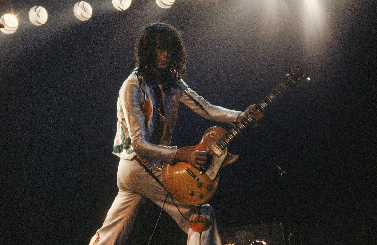 Jimmy Page performing in the late '70s