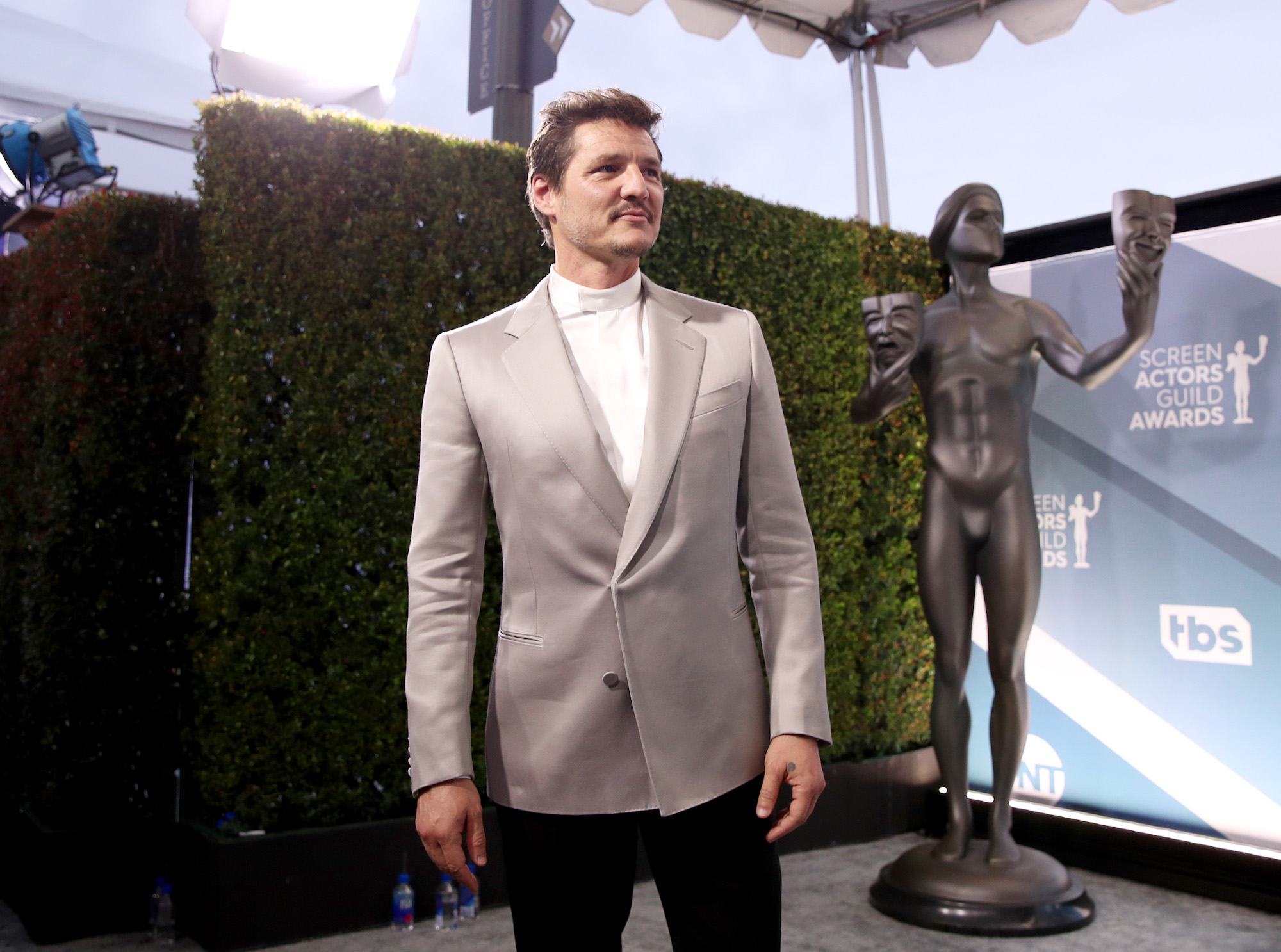 Pedro Pascal at the 26th Annual Screen Actors Guild Awards at The Shrine Auditorium on Jan. 19, 2020 in Los Angeles, California