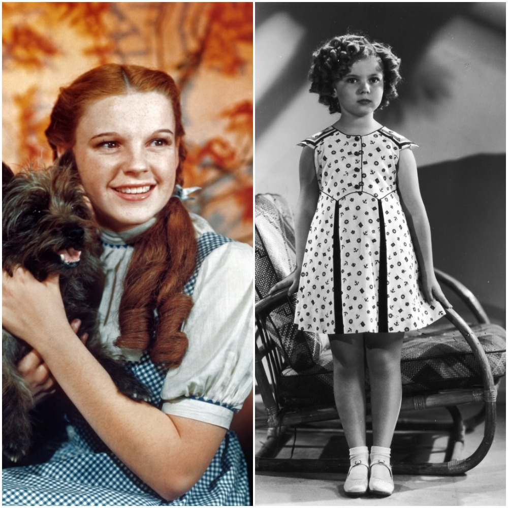 (L-R): Judy Garland in 1939 and Shirley Temple in 1938