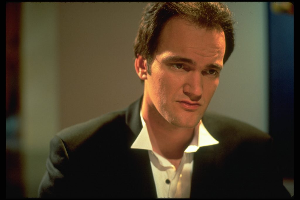Quentin Tarantino in a suit