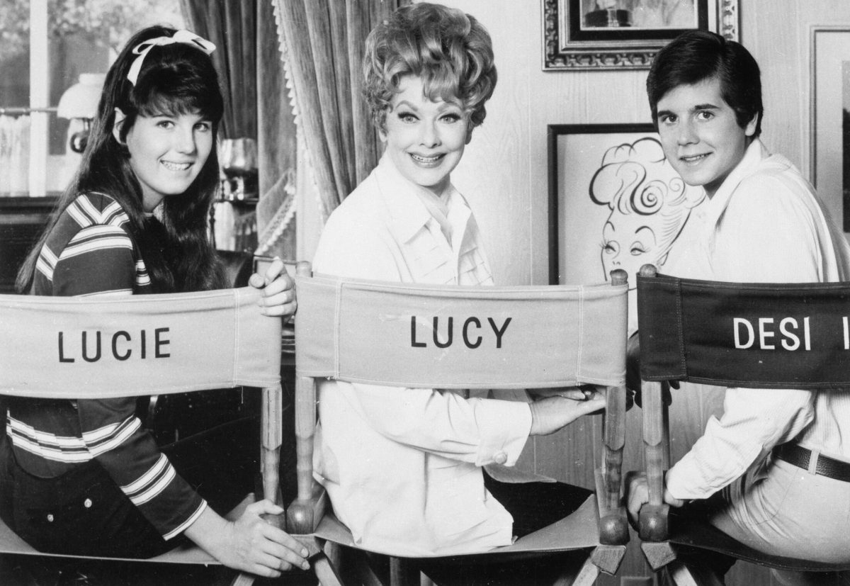 Lucille Ball with daughter Lucie Arnaz and son Desi Arnaz Jr.