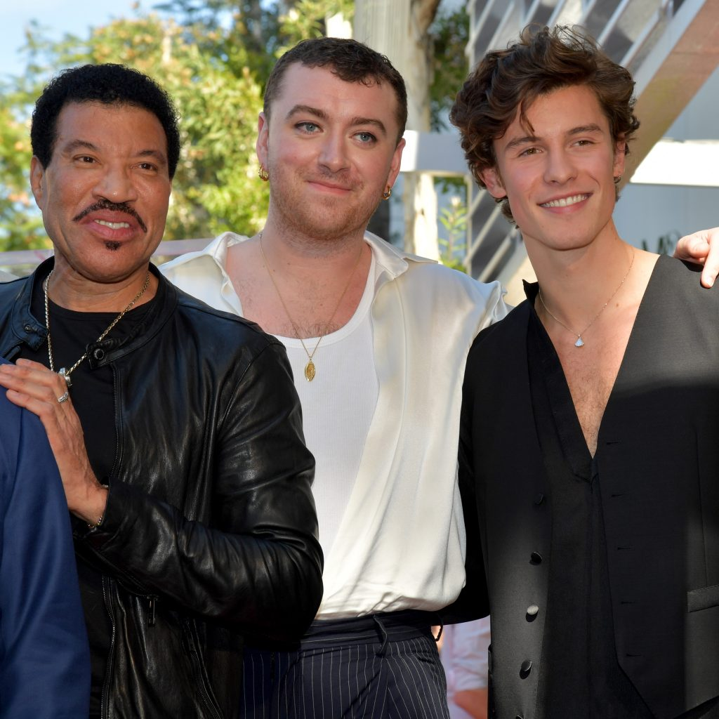 Lionel Richie, Sam Smith, and Shawn Mendes
