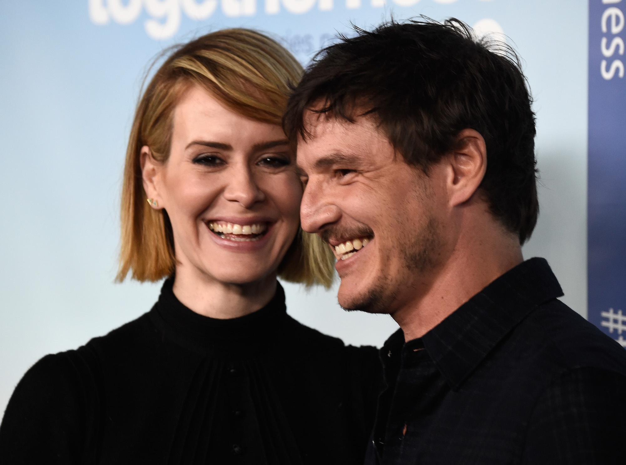 Sarah Paulson and Pedro Pascal arrive at the Premiere of HBO's 'Togetherness' at Avalon on Jan. 6, 2015