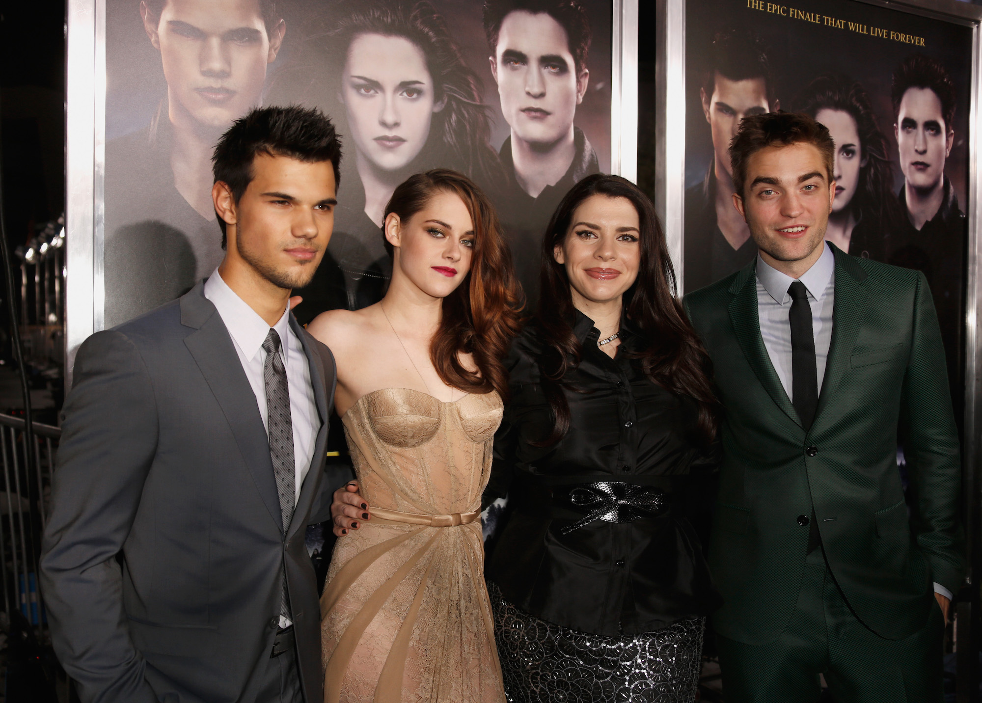 Taylor Lautner, Kristen Stewart, Stephenie Meyer, and Robert Pattinson at 'The Twilight Saga: Breaking Dawn - Part 2' Los Angeles premiere on Nov. 12, 2012