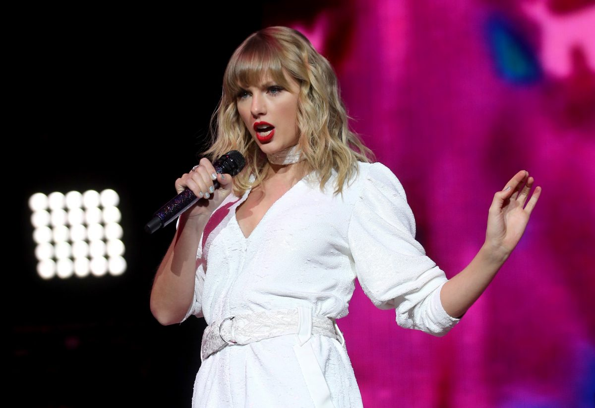 Taylor Swift performs on stage during day two of Capital's Jingle Bell Ball 2019