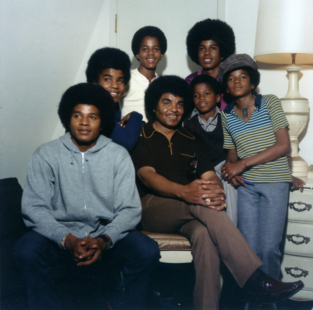 Joe Jackson with his sons