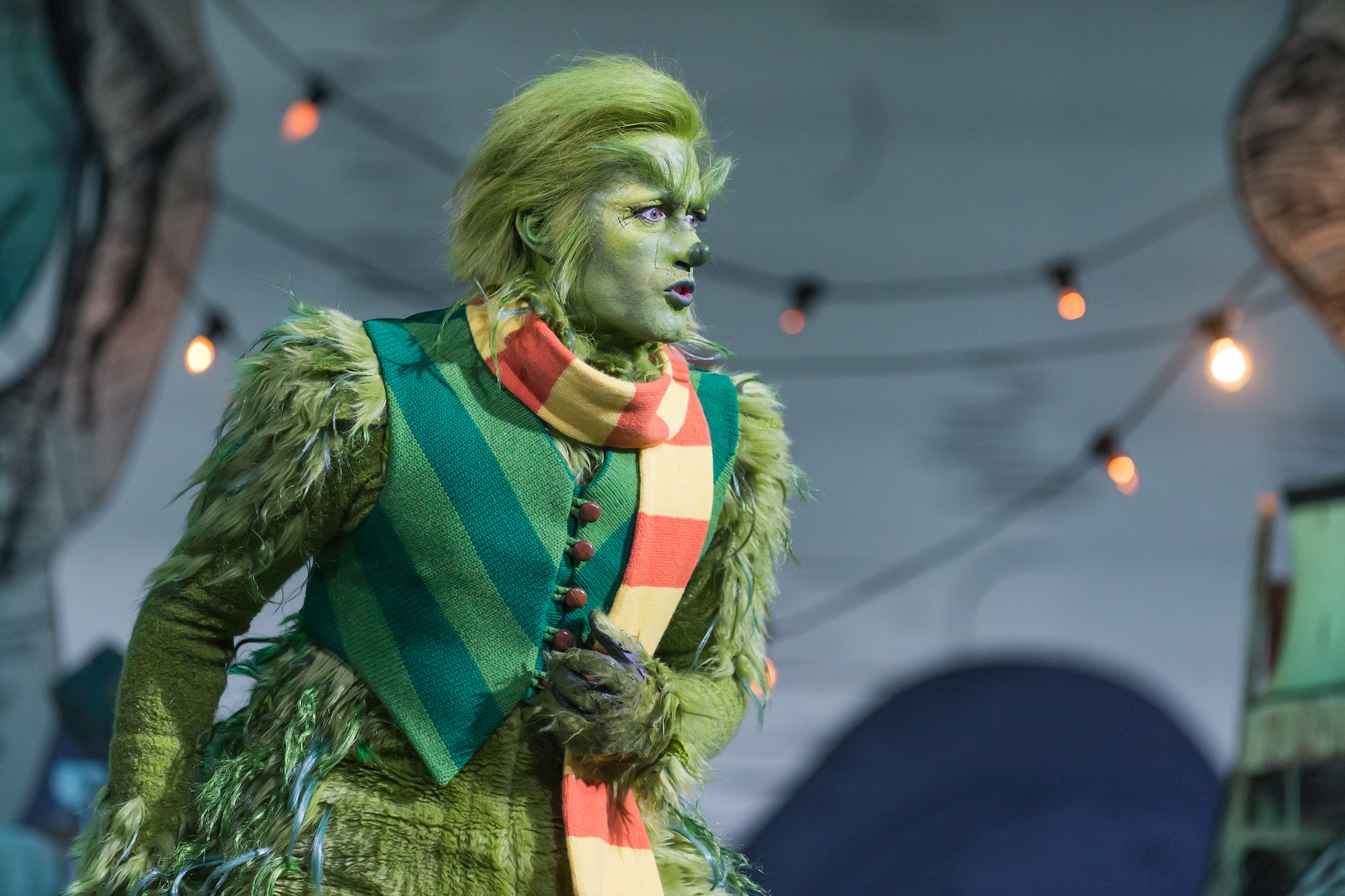 Matthew Morrison as The Grinch in 'DR. SUESS' THE GRINCH MUSICAL' on NBC