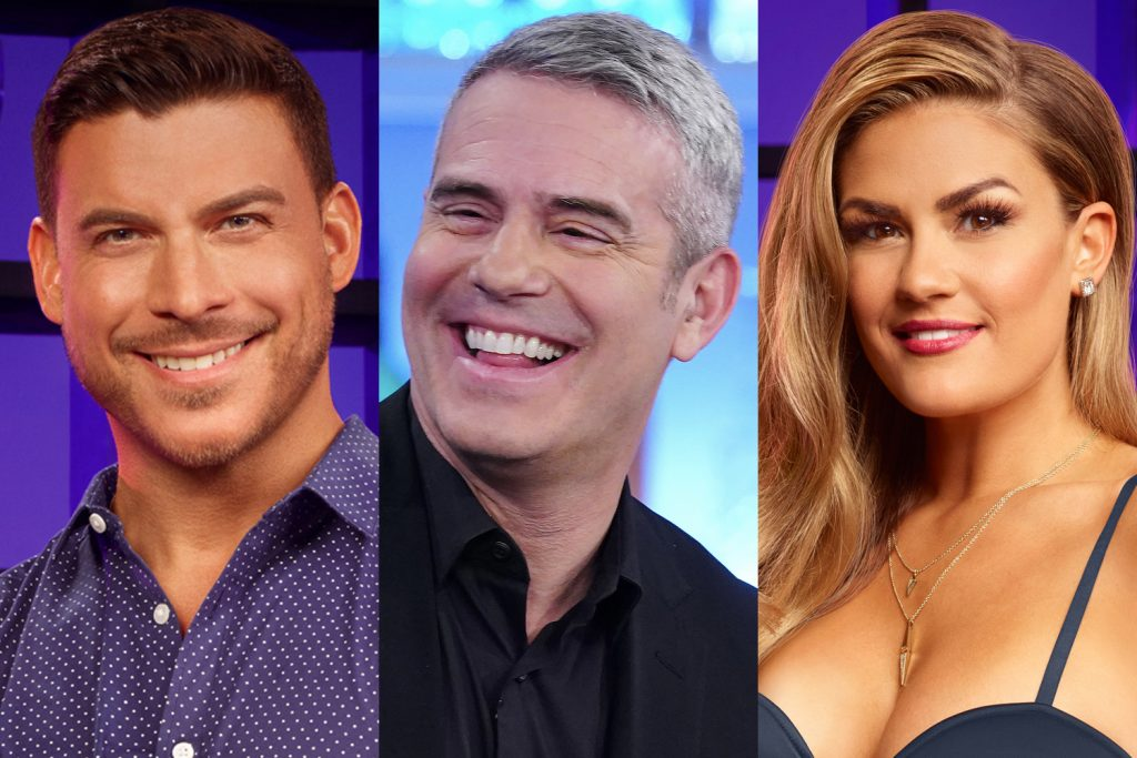 Jax Taylor, Andy Cohen, and Brittany Cartwright