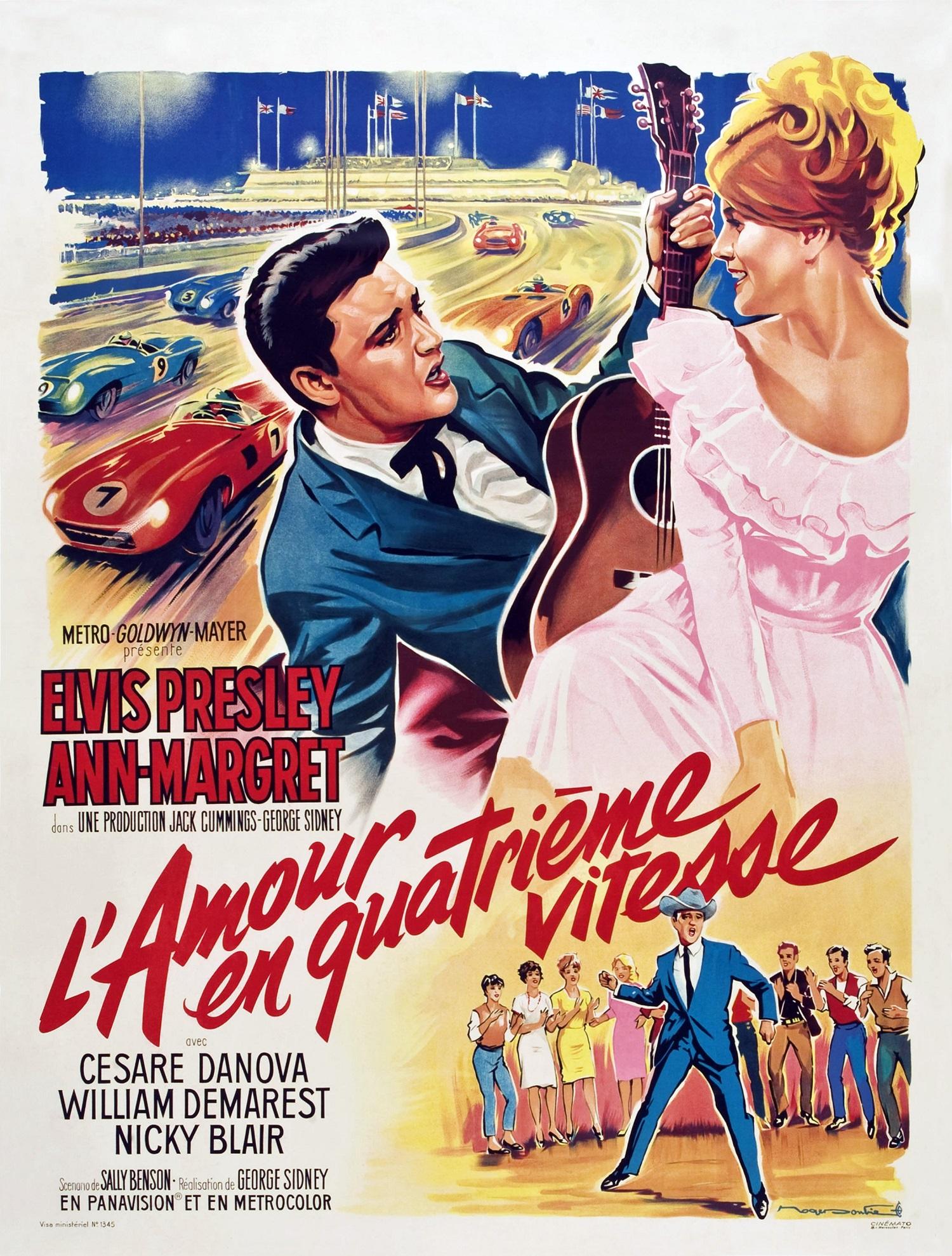 Viva Las Vegas (aka L'amour En Quatrieme Vitesse), poster, from left: Elvis Presley, Ann-Margret