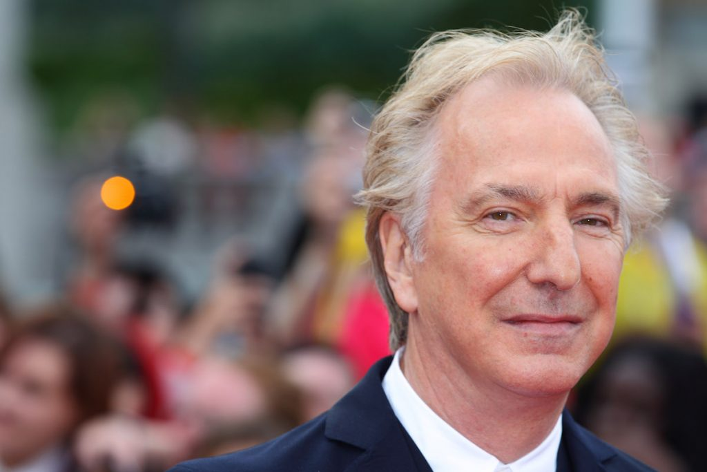 Alan Rickman attends the world premiere of 'Harry Potter And The Deathly Hallows Part 2' at Trafalgar Square on July 7, 2011 in London, England.
