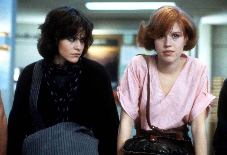 Ali Sheedy and Molly Ringwald in 'The Breakfast Club'