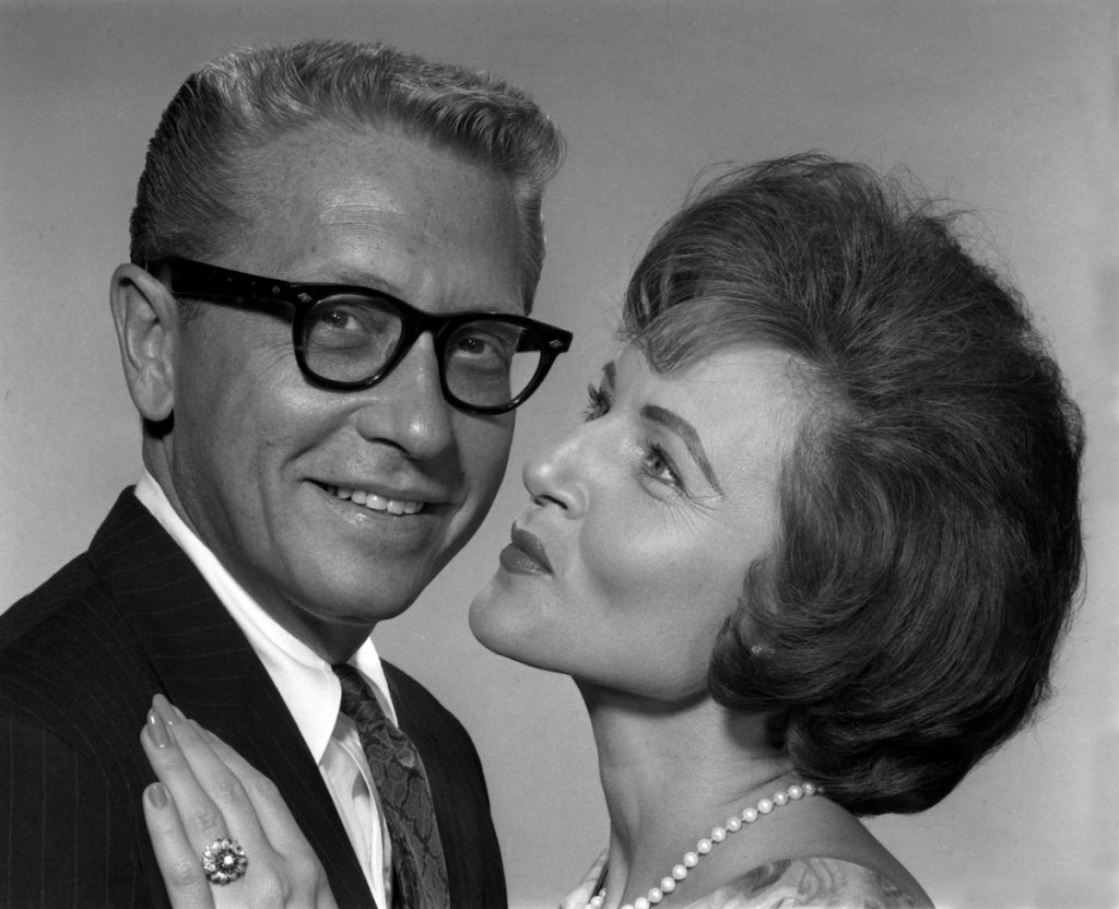 "Allen Lunden and Betty White from the gameshow ""PASSWORD"""