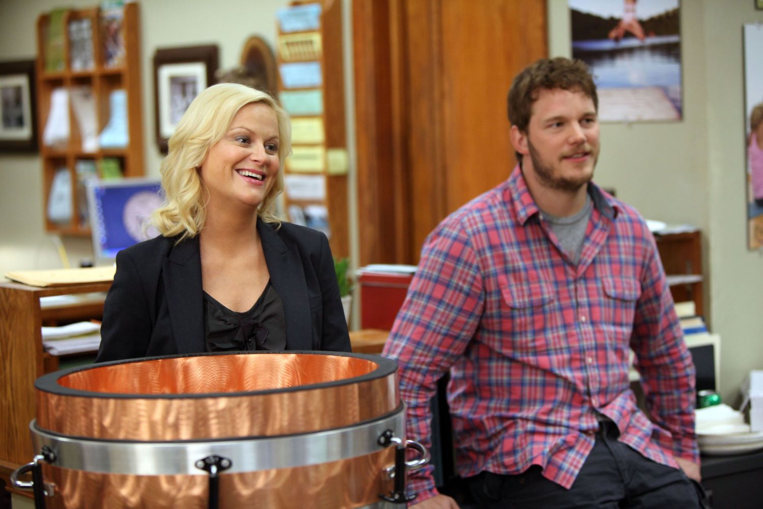 Amy Poehler and Chriss Pratt on 'Parks and Recreation'