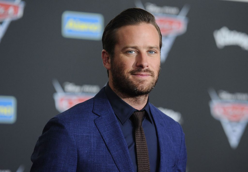 "Armie Hammer attends the premiere of ""Cars 3"" at Anaheim"