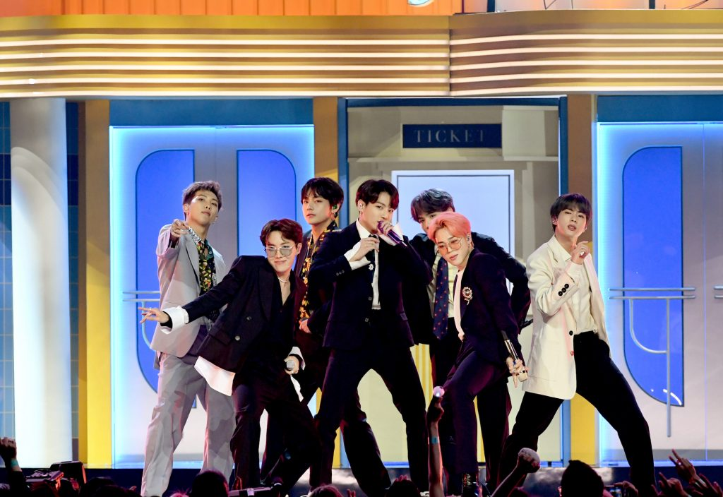 BTS performs on stage during the 2019 Billboard Music Awards