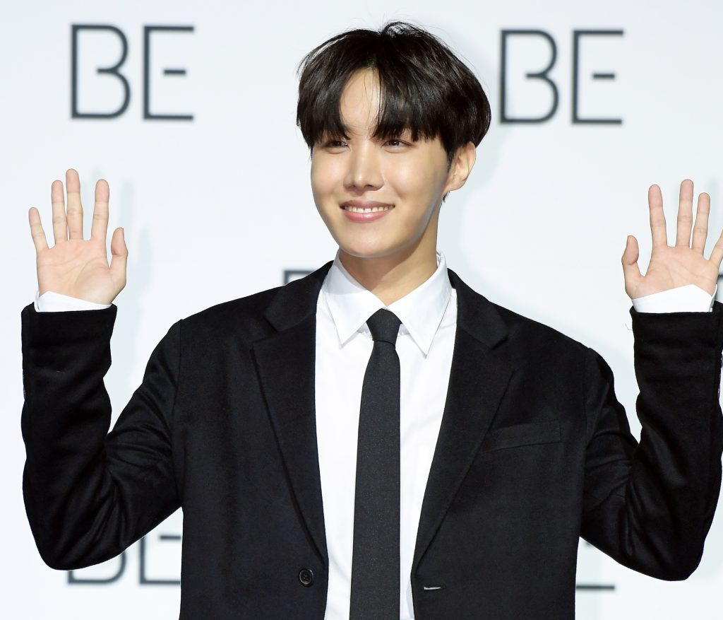 J-Hope of BTS during BTS's New Album 'BE (Deluxe Edition)' Release Press Conference