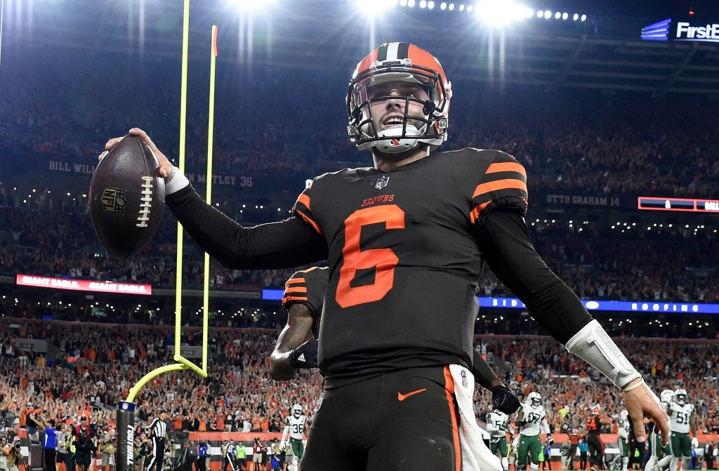 Baker Mayfield #6 on September 20, 2018 in Cleveland, Ohio