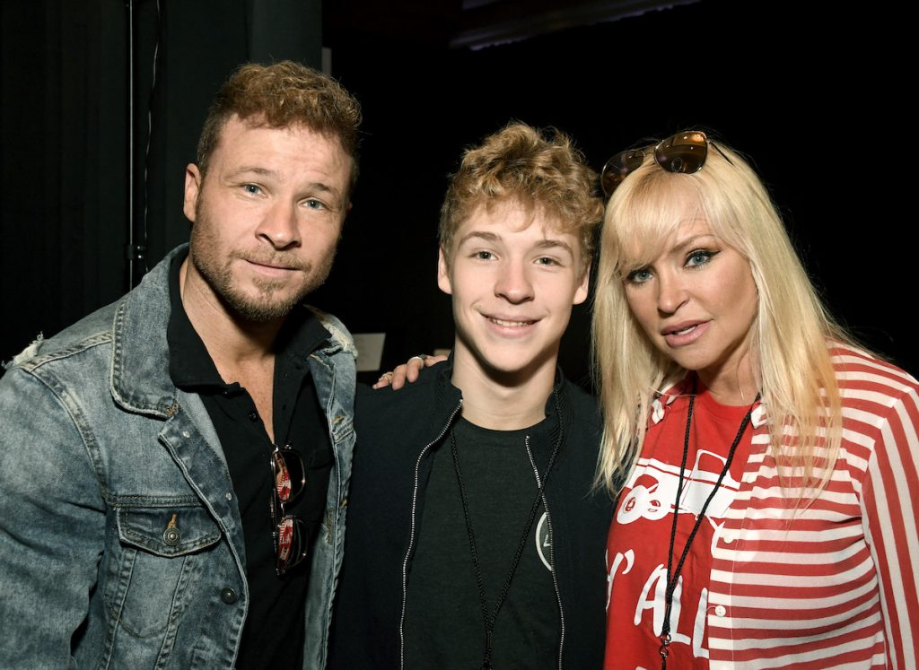 (L-R) Brian Littrell, his son Baylee Thomas Wylee Littrell, and his wife Leighanne Wallace attend the 54th Academy Of Country Music Awards Cumulus/Westwood One Radio Remotes on April 06, 2019 in Las Vegas, Nevada | Frazer Harrison/Getty Images for ACM