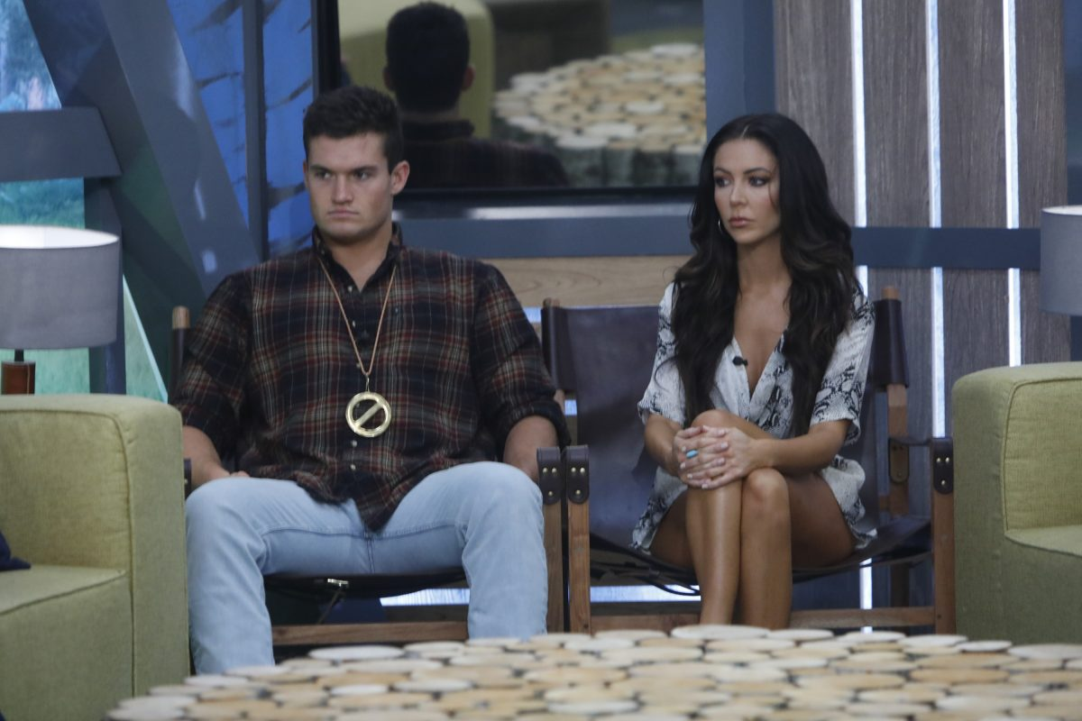 Jackson Michie and Holly Allen are on the block on the Big Brother Live Eviction show