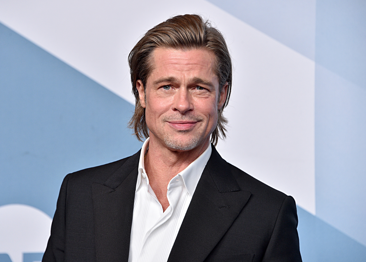 Brad Pitt, winner Outstanding Performance by a Male Actor in a Supporting Role for 'Once Upon a Time in Hollywood,' poses in the press room during the 26th Annual Screen ActorsGuild Awards at The Shrine Auditorium on January 19, 2020