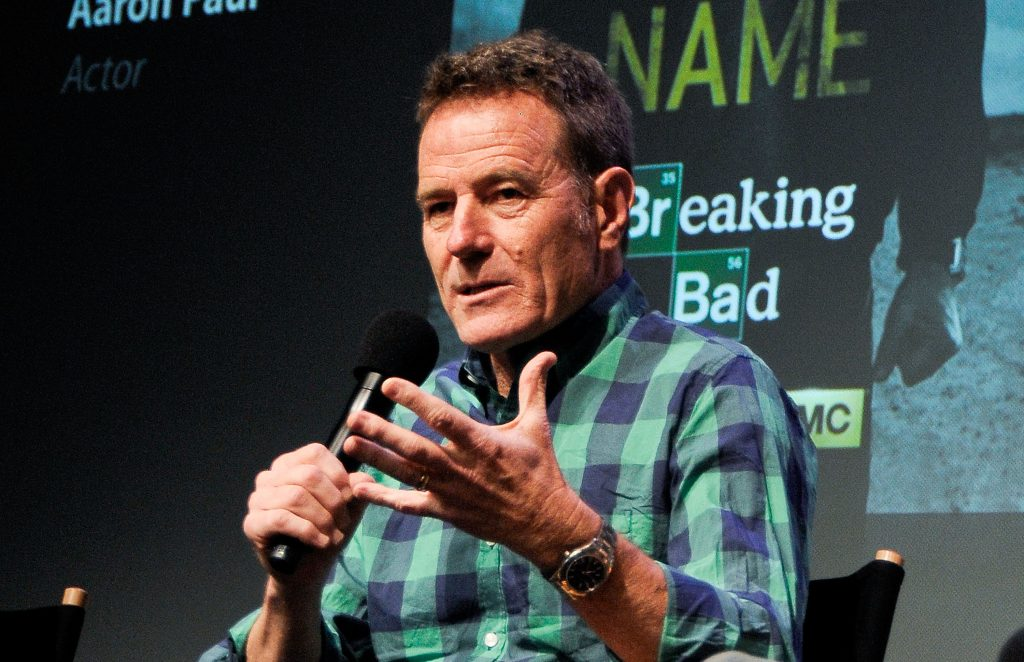 Bryan Cranston sits on a panel for a discussion about 'Breaking Bad'