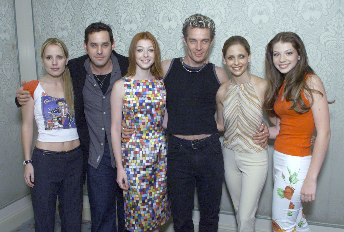 'Buffy the Vampire Slayer' cast members Emma Caulfield, Nicholas Brendon, Alyson Hannigan, James Marsters, Sarah Michelle Gellar, and Michelle Trachtenberg