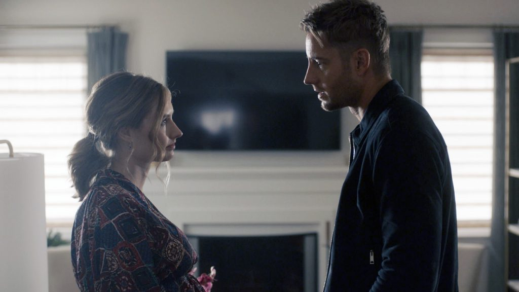 Caitlin Thompson as Madison and Justin Hartley as Kevin on 'This Is Us' Season 5
