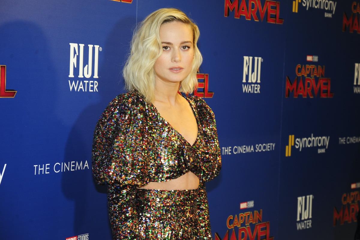 Brie Larson at a 'Captain Marvel' screening