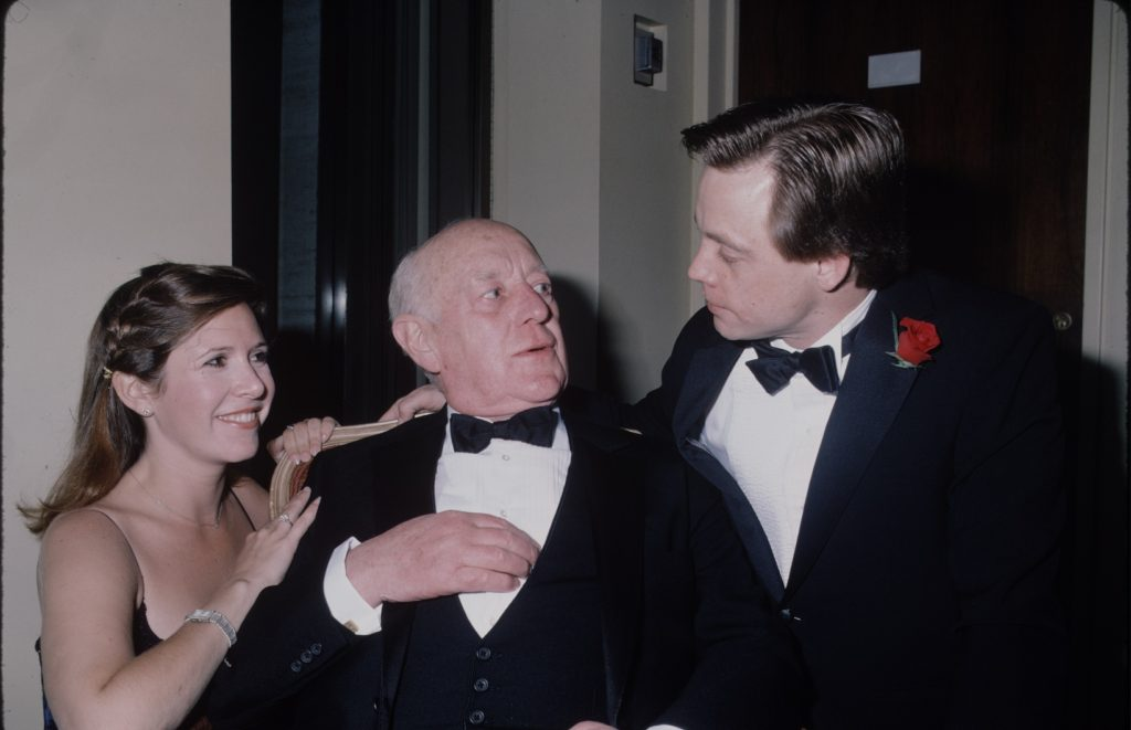 'Star Wars' actors Carrie Fisher, Alec Guinness, and Mark Hamill