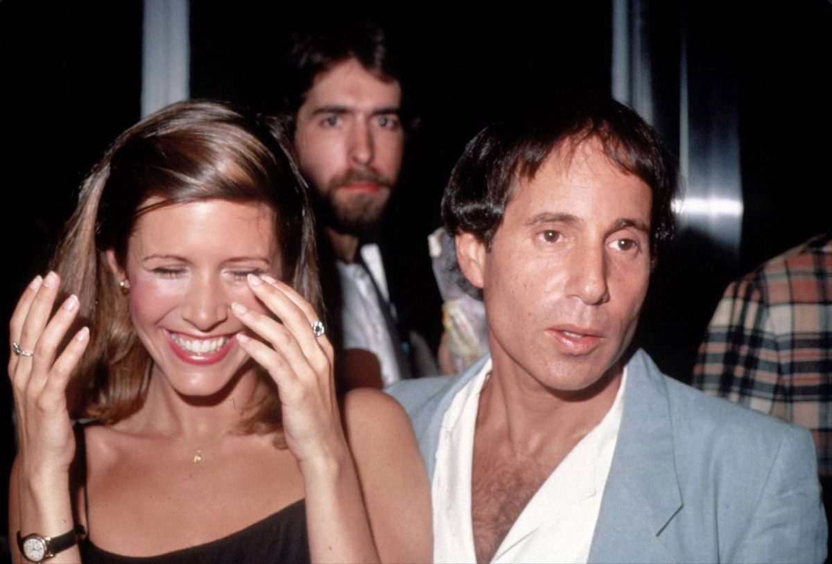Carrie Fisher and Paul Simon circa 1983 in New York City