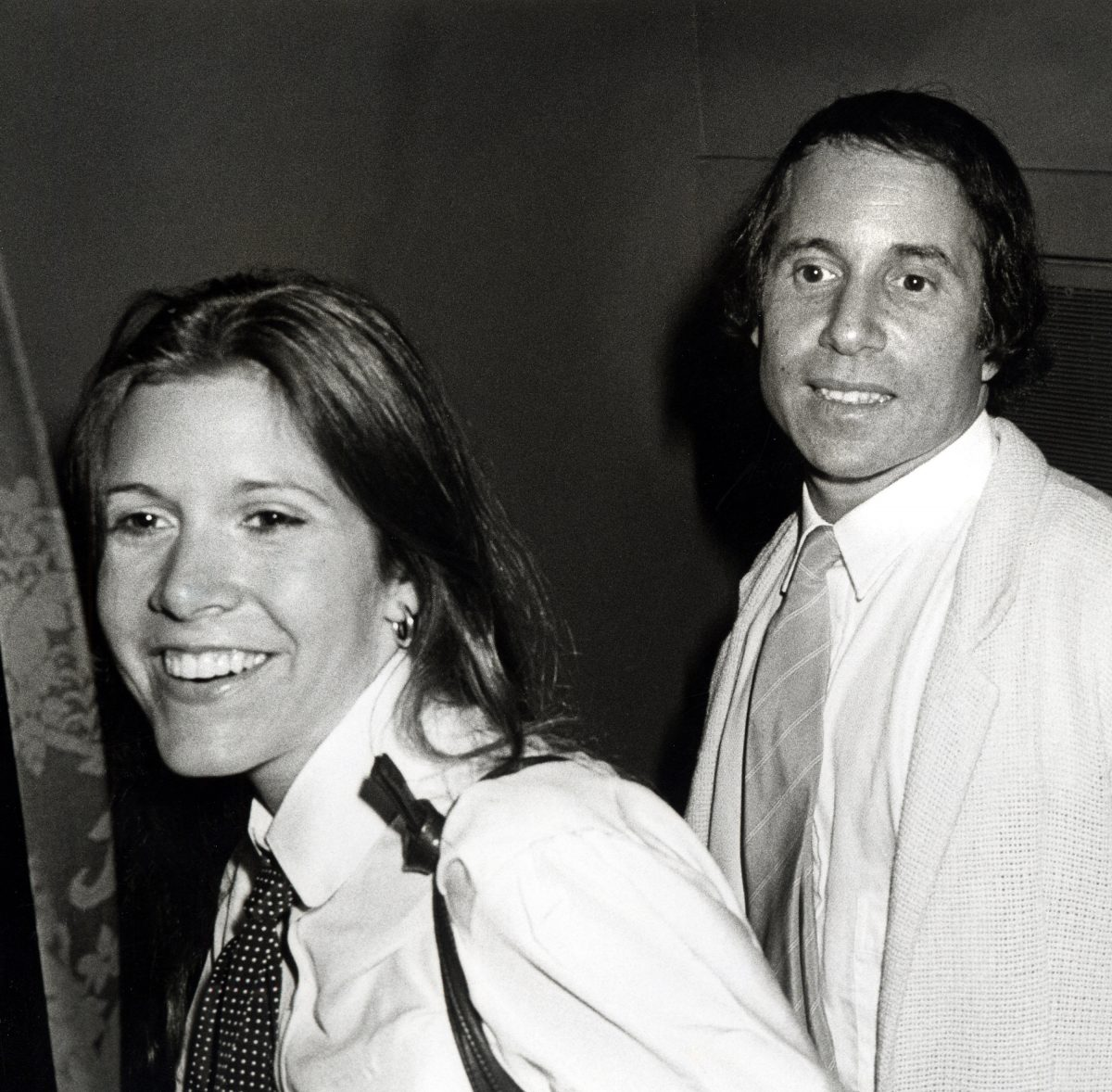 """Carrie Fisher and Paul Simon during Opening of """"Gilda, Live from New York"""" - August 2, 1979 at Winter Garden Theatre in New York City, New York, United States."""
