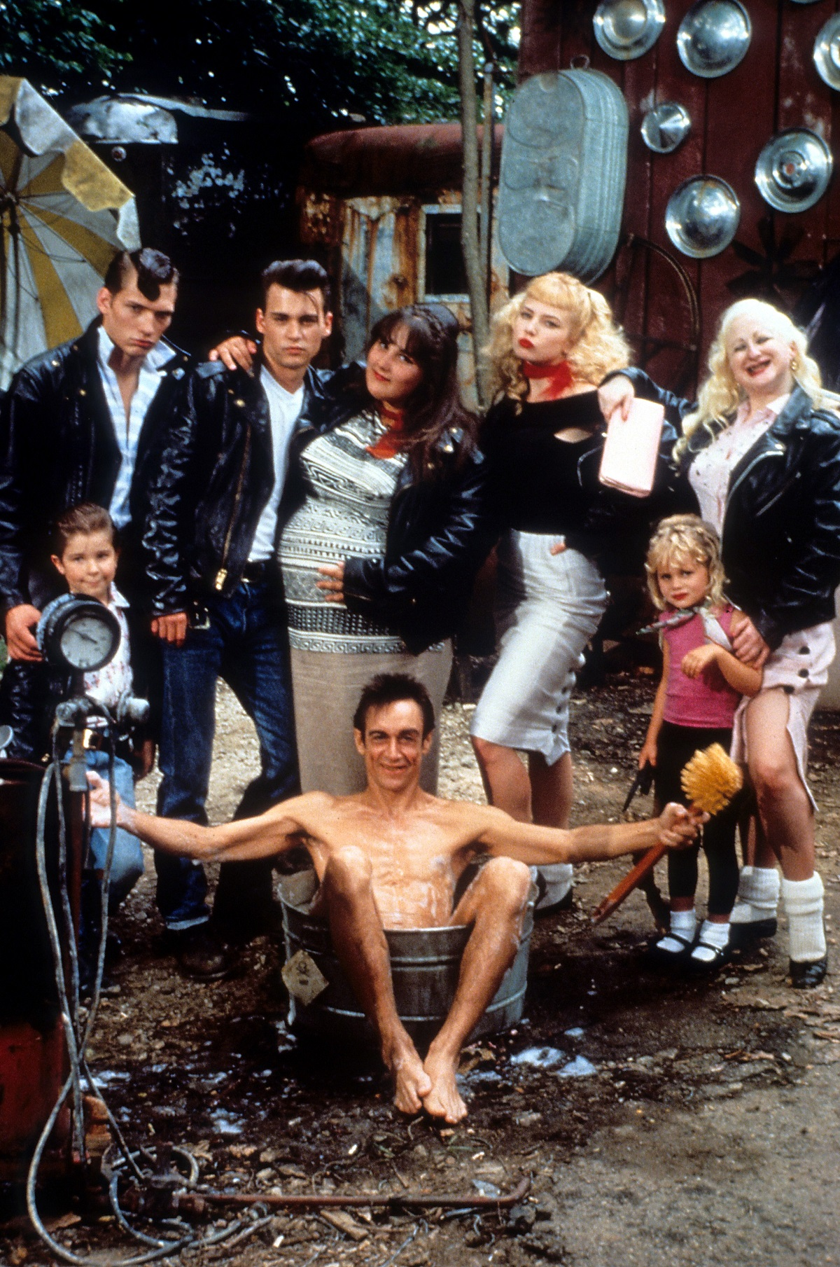 Johnny Depp, Traci Lords, Ricki Lake, and the rest of the cast of 'Cry-Baby'